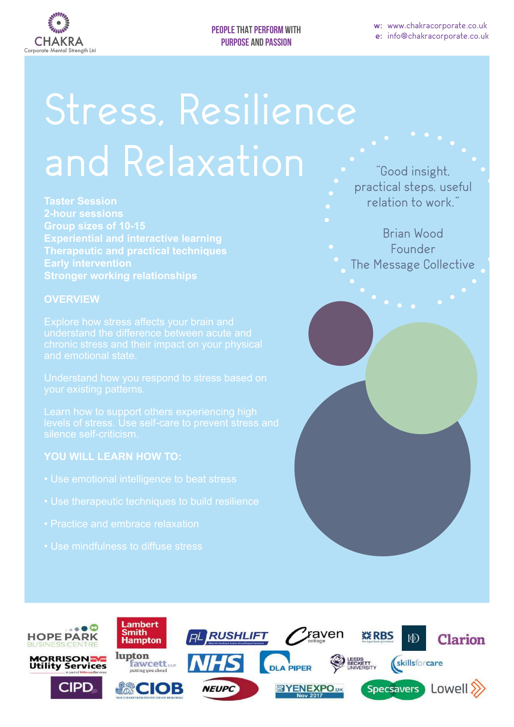 How Do Acute And Chronic Stress Impact >> Stress Resilience And Relaxation Old Chakra